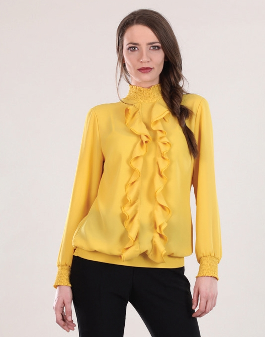 Yellow Ruffle Blouse