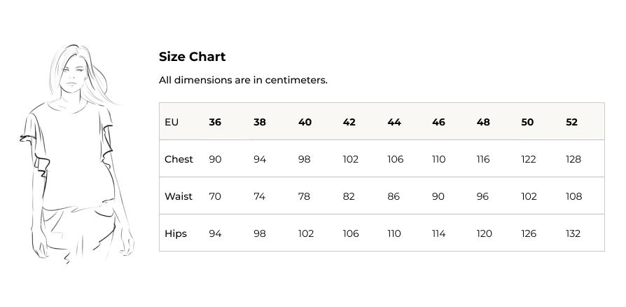 linea en size chart